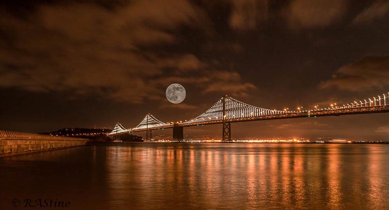 San Francisco-Oakland Bay Bridge_Super Moon