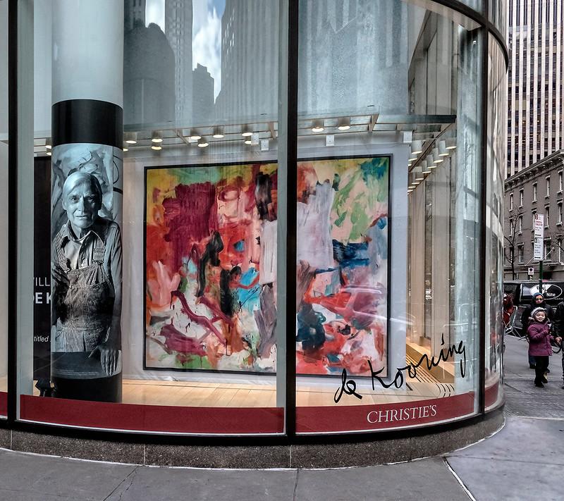 de Kooning's Christie's Window