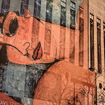 Modigliani on a Facade