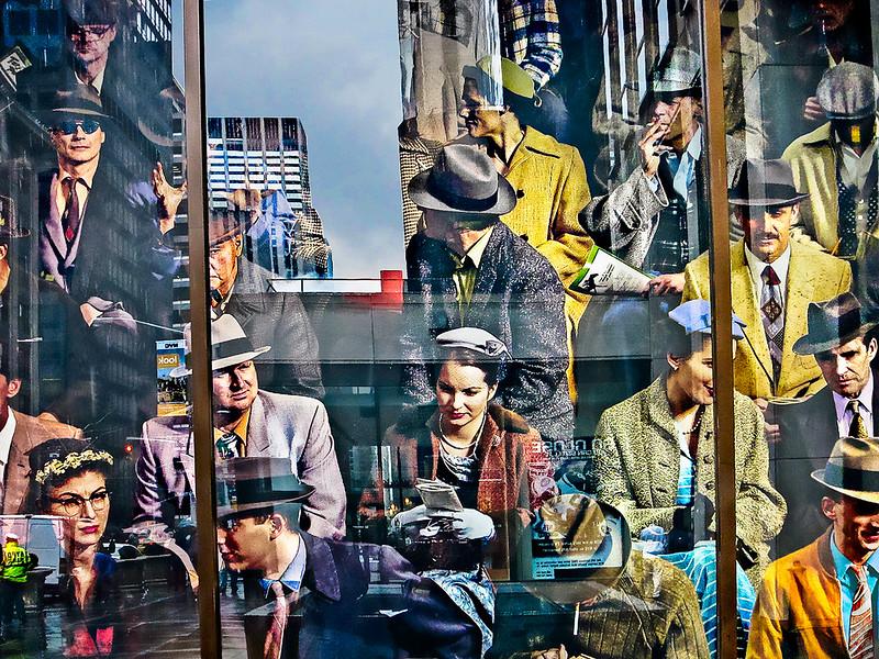 Midtown Manhattan Window, 1950's Attire