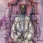 Giacometti in a Window