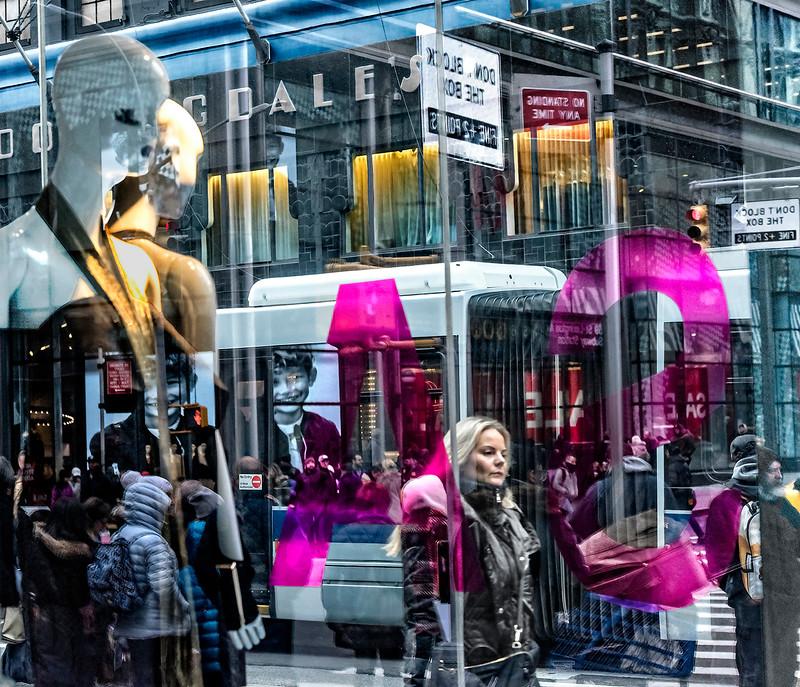 Mannequins, Pedestrians, Bus, Bloomingdales