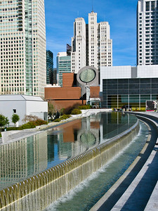SFMOMA from Yerba Buena Gardens - San Francisco