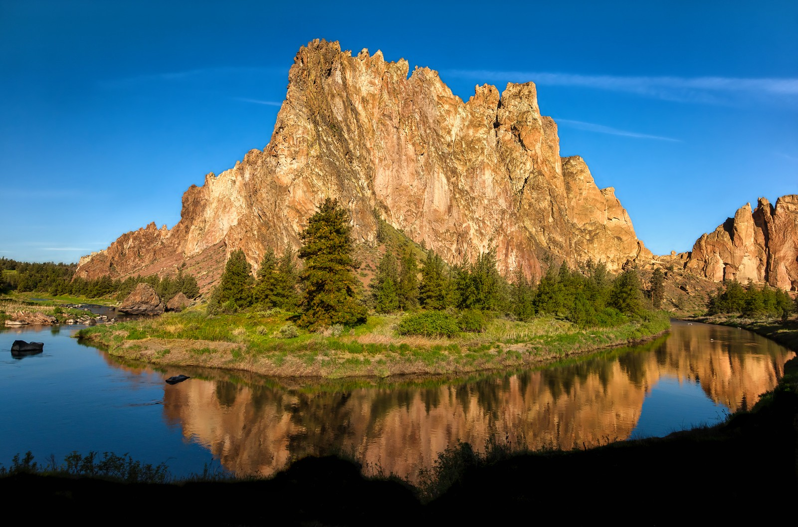 Sunshine on Smith Rock