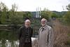 Lukas Keller with Steve on the University Zürich campus, Irchel.