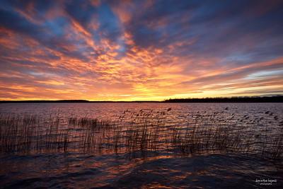 Dernier coucher de soleil de l'année 2017