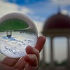I had the opportunity to walk around the Pelican Hill Resort in Newport Beach, California with my 80mm Lensball and camera.