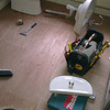 """3/4"""" WBP Plywood installed with screws every 200mm."""