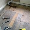 Davyhulme Rd, Bathroom Floor replacement.