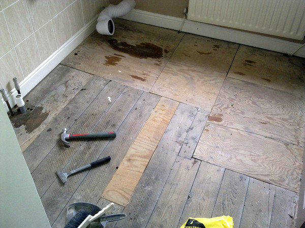 Davyhulme Rd , Bathroom Floor replacement.