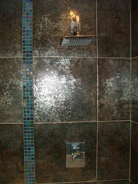 Shower mixer insatlled
