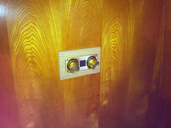 Narrow boat shower install