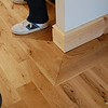 Oak flooring with border and new skirting