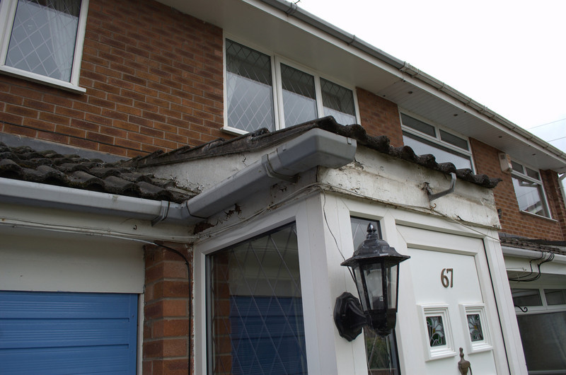 Rotting porch roof needs to be repaired and new soffit and facia will be installed.