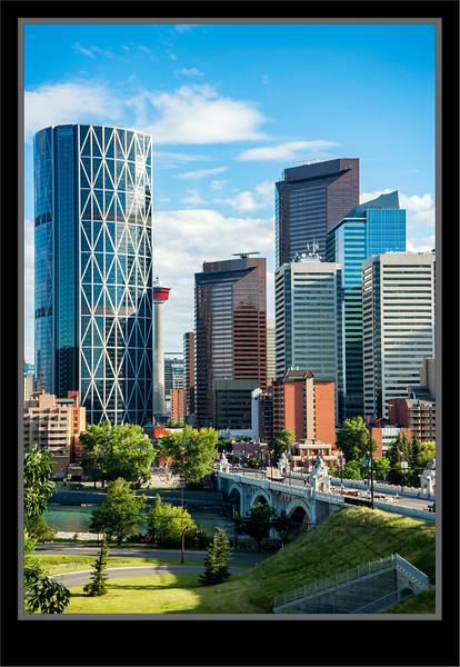 Calgary Centre St Bridge To Downtown