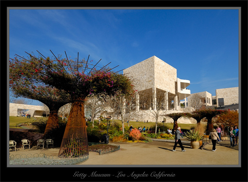 Grounds Of The Getty Museum Los Angles California