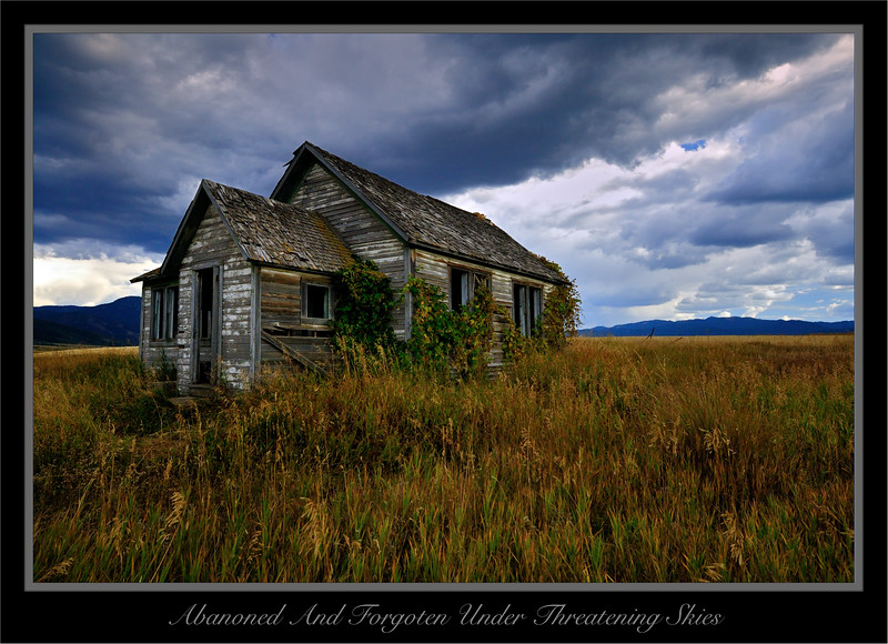 Abandoned And Forgotten Under Threatening Skies
