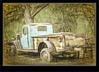 Digital Manipulation - Truck At Boyce Thompson Arboretum