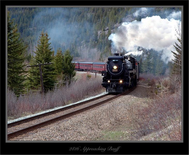 CPR 2816 Coming Into Banff Alberta