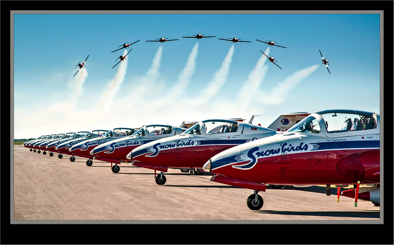 Lethbridge Air Show 2005 - Snowbirds - Composite