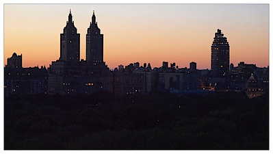 Crépuscule sur West Central Park