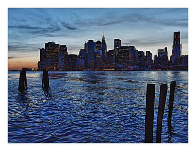 NYC Skyline at dust
