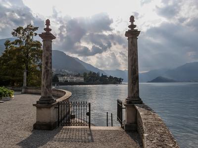 Une vue romantique sur le lac depuis la villa Melzi