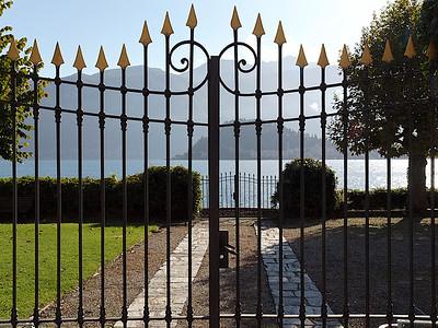 L'accès au lac de la villa Margherita à Griante