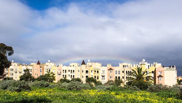 Arc-en-ciel sur La Quinta, près de Puerto de la Cruz, Tenerife