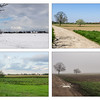 Paysage de campagne aux quatre saisons