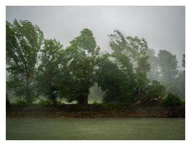 Orage sur le Danube