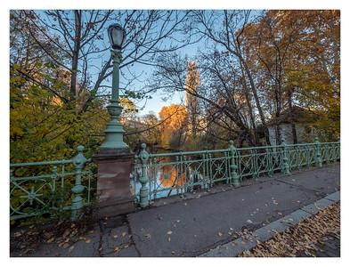 Le pont du Contades en automne