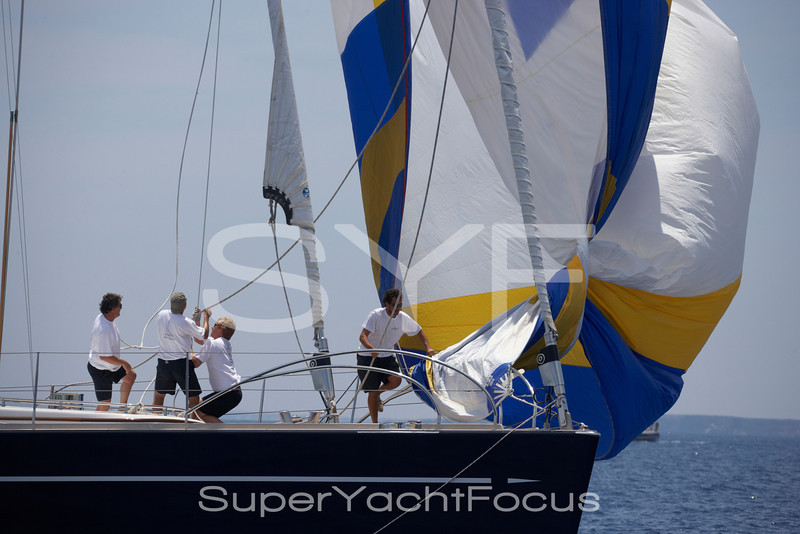 Crew on foredeck