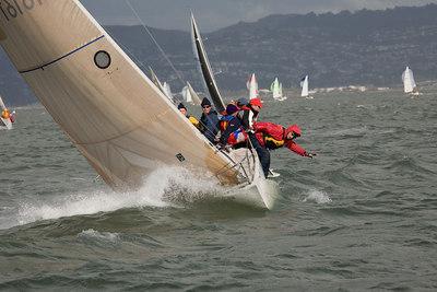 Berkeley Yacht Club Midwinter Regatta day 1, 12/9/06
