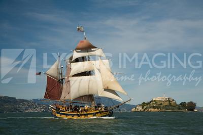 Lady Washington & Hawaiian Chieftain battle sail