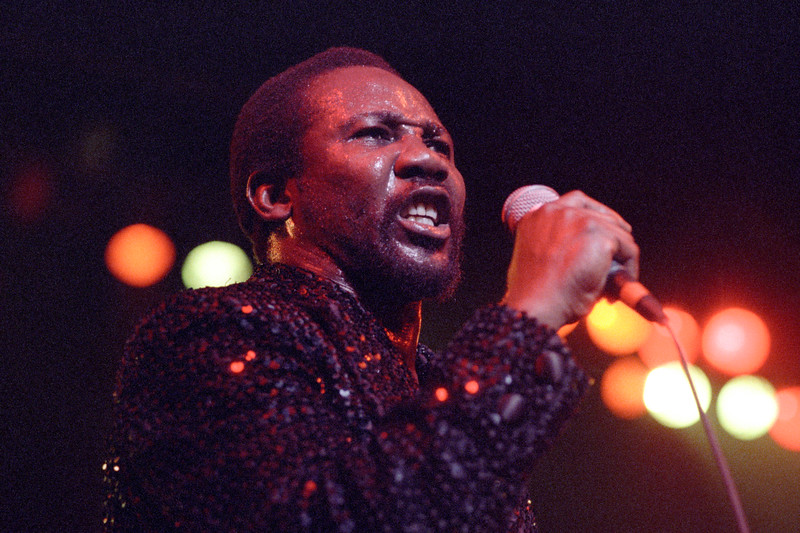 Toots Hibbert performing live on stage at the Warfield Theater in San Francisco on May 13, 1990.