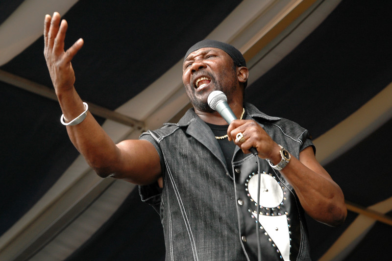 Toots Hibbert performs at the New Orleans Jazz & Heritage Festival on April 30, 2005