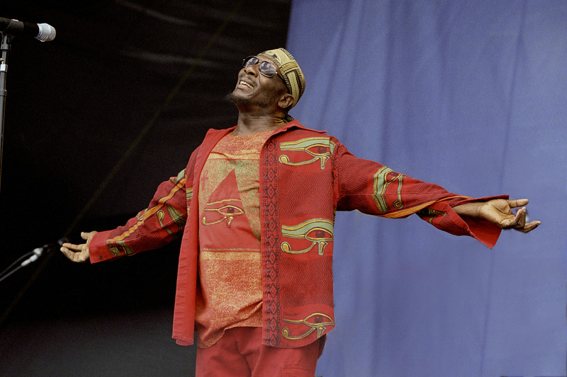 Jimmy Cliff performs at the New Orleans Jazz & Heritage Festival on May 6th, 2000
