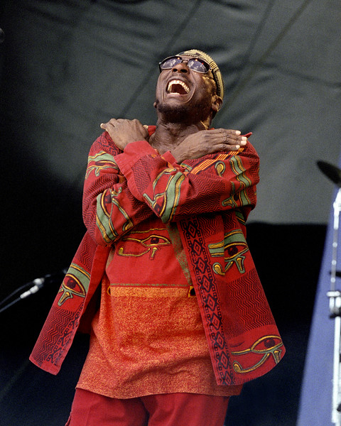Jimmy Cliff performs at the New Orleans Jazz & Heritage Festival on May 6th, 2000.