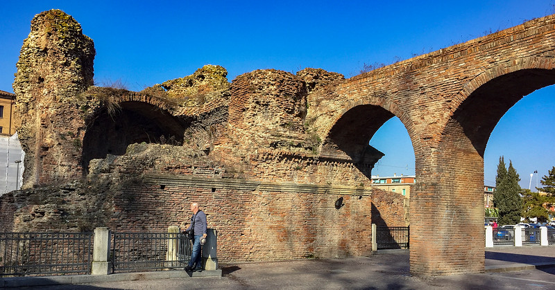 Remnants of ramparts that surrounded Bologna, located near the train station.