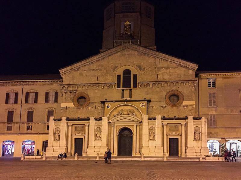 Enormous church at a piazza near our hotel.