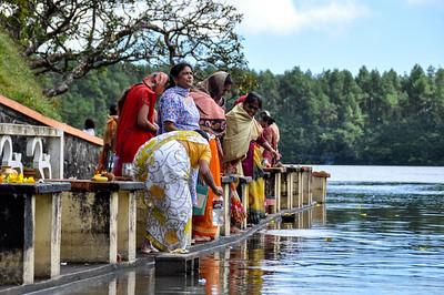Sacred Lake in Mauritius