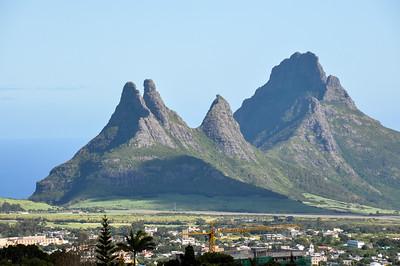 Trois Mamelles mountains in Mauritius Island
