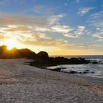 San Juanillo beach on both sides, Nicoya Peninsula, Costa Rica