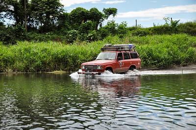 Crossing rivers in Nicoya Peninsula, Costa Rica