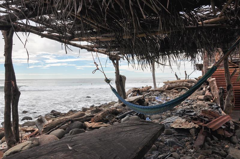 Relaxing at playa El Zonte, El Salvador