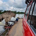 Crossing river in Guatemala