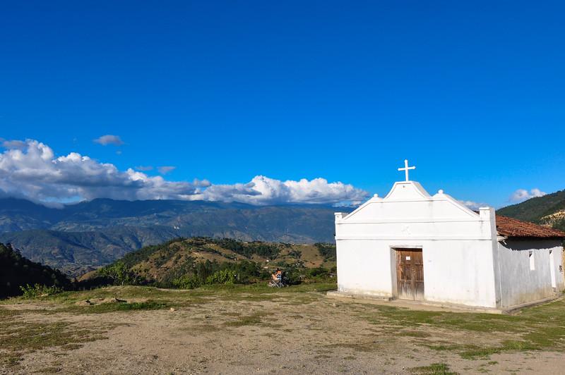 White church near Sacapulas, Guatemala