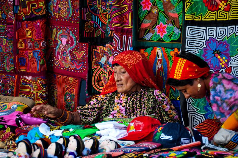 Traditional woman in Panama City, Panama
