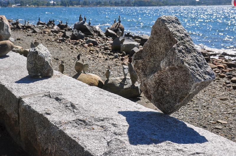 Incredible rock balancing, Vancouver, Canada
